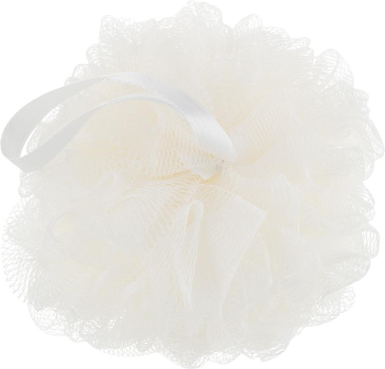 Мочалка синтетическая, средняя, молочная - Balmy Naturel Bath Pouf Medium