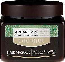 Духи, Парфюмерия, косметика Маска для восстановления структуры волос с кокосовым маслом - Arganicare Coconut Hair Masque For Dull, Very Dry & Frizzy Hair