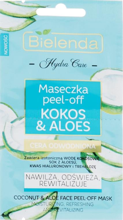 """Маска для лица """"Кокос и алоэ"""" - Bielenda Hydra Care Face Peel Off Mask"""