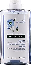 Духи, Парфюмерия, косметика Шампунь с экстрактом льняного волокна для придания объема тонким волосам - Klorane Shampoo With Flax Fiber