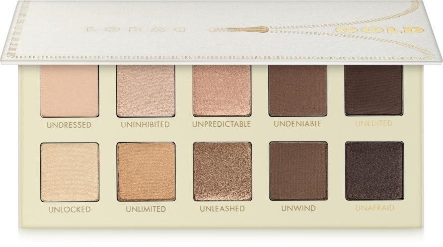 Набор теней для век - Lorac Unzipped Gold Eye Shadow Palette