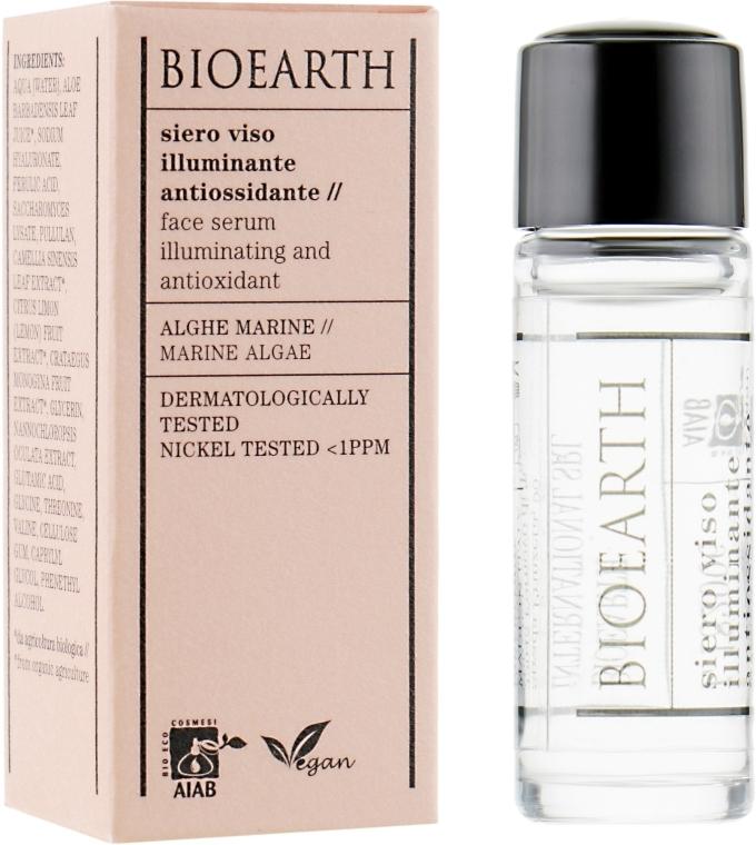 Антиоксидантная осветляющая сыворотка для лица - Bioearth Brightening & Antioxidant Serum (мини)