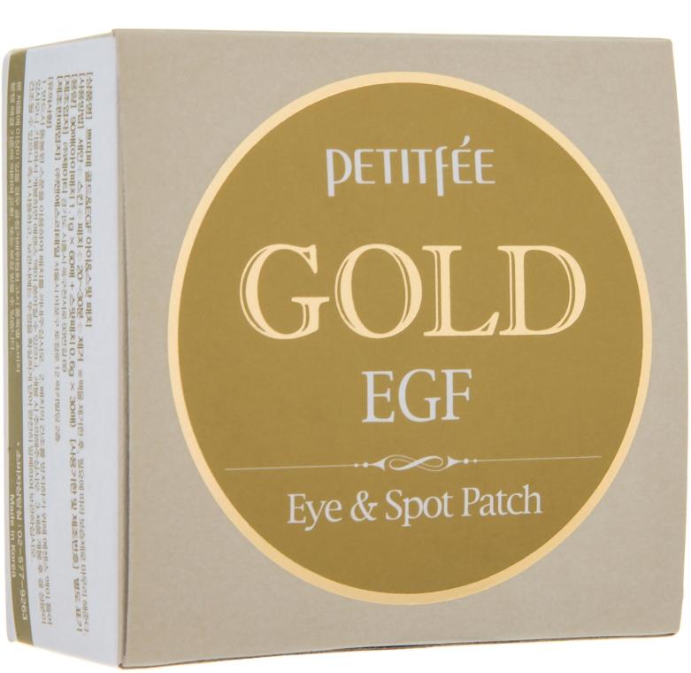 Гидрогелевые патчи для глаз с золотом - Petitfee&Koelf Gold&EGF Eye&Spot Patch
