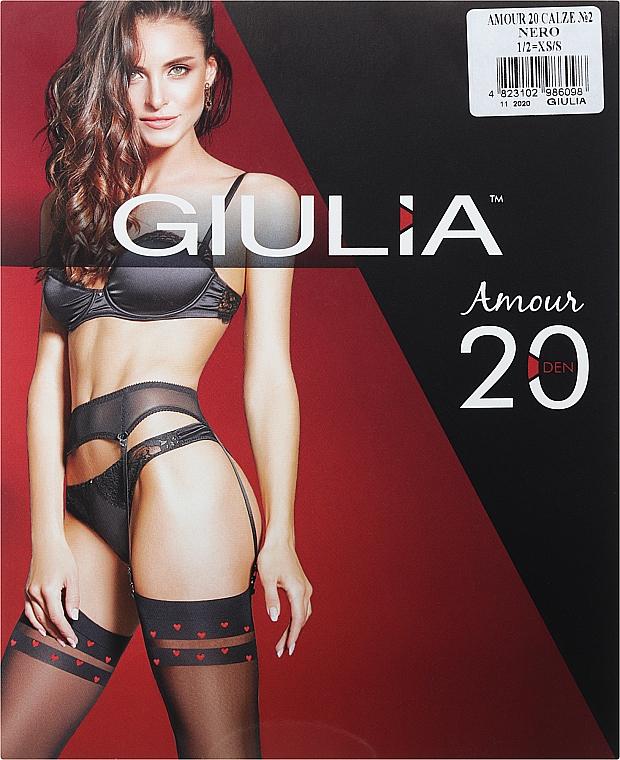 """Чулки для женщин """"Amour Model 2"""" 20 den, nero - Giulia"""