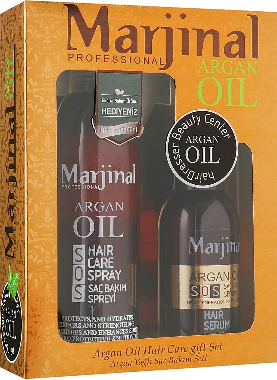 Набор для восстановления волос - Marjinal Argan Hair Treatment (argan/ser/150ml + argan/spray/250ml)