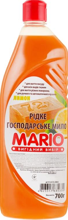 """Жидкое мыло """"Хозяйственное"""", лимон - Маротех Mario"""