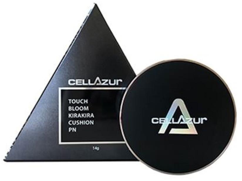 Кушон профессиональный с полинуклеотидами - Cellazur Touch Bloom Kirakira Cushion SPF50, PA +++