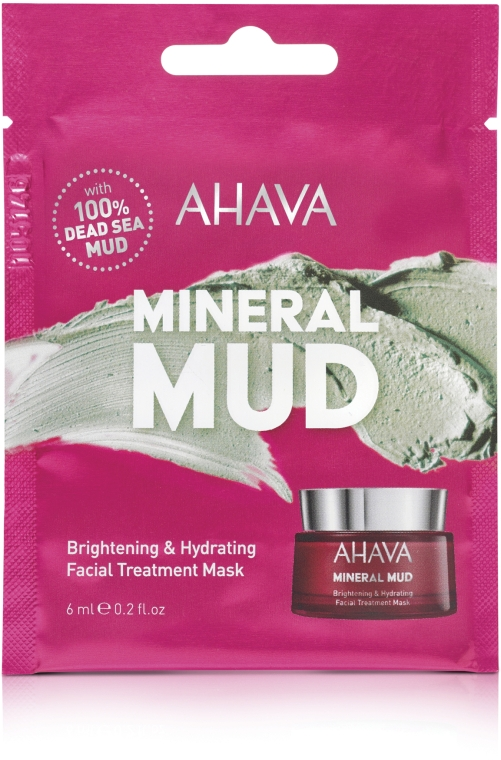 Увлажняющая маска для лица - Ahava Mineral Mud Brightening & Hydrating Facial Treatment Mask (пробник)