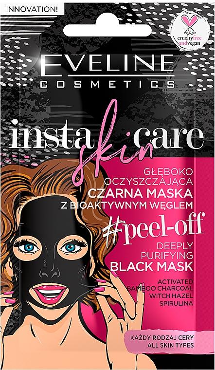 Очищающая черная маска-пленка для лица - Eveline Cosmetics Insta Skin Care #Peel Off