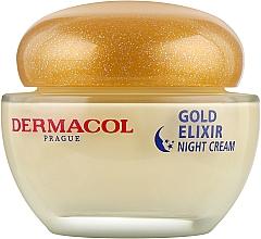 Духи, Парфюмерия, косметика Крем ночной омолаживающий - Dermacol Gold Elixir Rejuvenating Caviar Night Cream