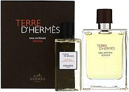 Духи, Парфюмерия, косметика Terre D'Hermes Eau Intense Vetiver - Набор (edp/100ml + sh/gel/100ml)