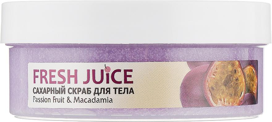 """Сахарный скраб для тела """"Маракуйя и макадамия"""" - Fresh Juice Passion Fruit & Macadamia"""