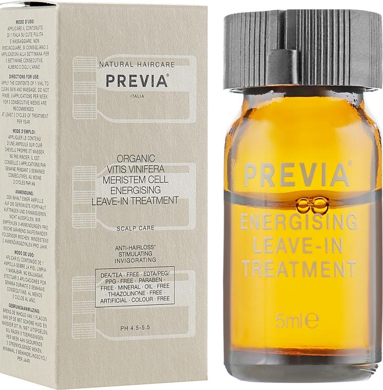 Энерджайзинг уход против выпадения волос - Previa Vitis Vinifera Energising Anti-Hairloss Leave-In Treatment