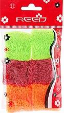 Духи, Парфюмерия, косметика Набор резинок для волос, 7581, 6шт, бордовый + неоново-оранжевый + салатовый - Reed