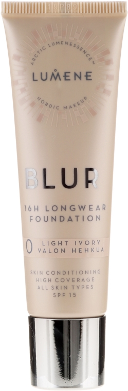 Стойкая тональная основа - Lumene Blur 16H Longwear Foundation SPF15