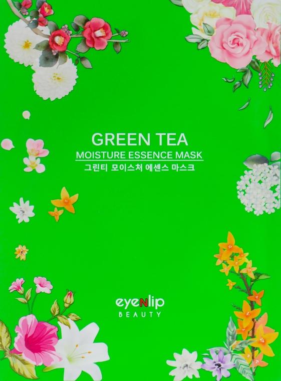 Тканевая маска для лица - Eyenlip Green Tea Oil Moisture Essence Mask