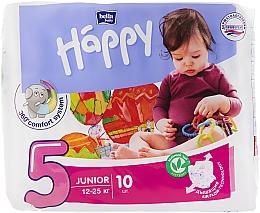 """Духи, Парфюмерия, косметика Детские подгузники """"Happy"""" Junior 5, 12-25 кг, 10шт - Bella Baby"""