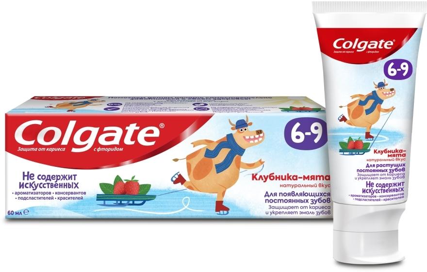 """Детская зубная паста """"Клубника-мята"""" с фторидом, 6-9 лет - Colgate"""