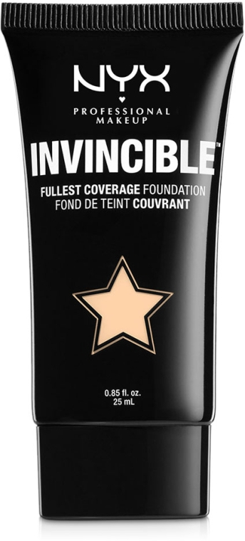 Жидкая тональная основа - NYX Professional Makeup Invincible Fullest Coverage Foundation