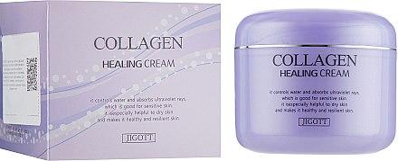 Питательный крем для лица с коллагеном - Jigott Collagen Healing Cream