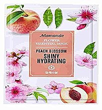 Духи, Парфюмерия, косметика Тканевая маска для лица - Mamonde Flower Essential Mask Peach Blossom Shiny Hydrating