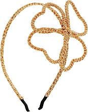 Духи, Парфюмерия, косметика Обруч-шнур для волос, оранжево-золотой бант - Элита