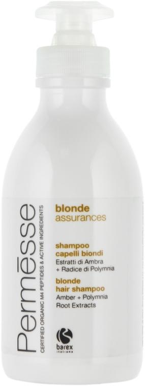 Шампунь для осветленных волос с экстрактом янтаря и корня полимнии - Barex Italiana Permesse Colour Blonde Assurances Shampoo