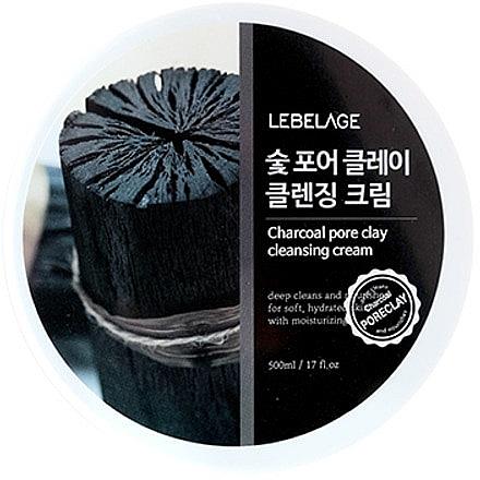 Очищающий крем для лица - Lebelage Charcoal Pore Clay Cleansing Cream