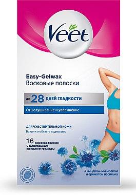 Восковые полоски с миндальным маслом и ароматом василька - Veet Easy-gelwax