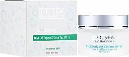 Духи, Парфюмерия, косметика Увлажняющий крем с оливковым маслом, экстрактом папайи и зеленого чая SPF 15 - Dr. Sea Moisturizing Cream SPF 15