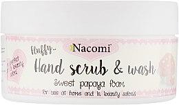 Духи, Парфюмерия, косметика Скраб для рук с ароматом папайи - Nacomi Sweet Papaya Hand Scrub & Wash