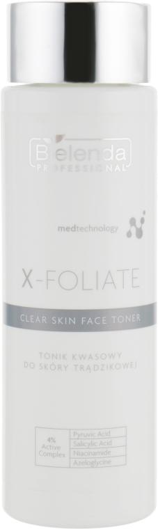 Тоник кислотный для проблемной кожи лица - Bielenda Professional X-Foliate Clear Skin Face Toner