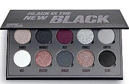 Духи, Парфюмерия, косметика Палетка теней для век, 10 цветов - Makeup Obsession Black Is The New Black