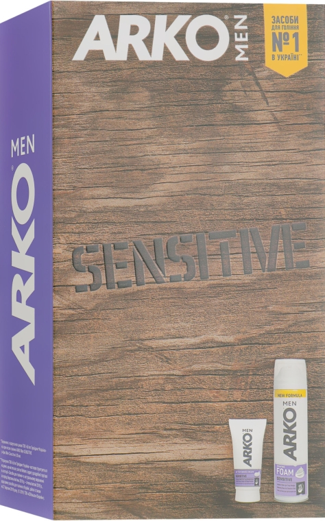 Набор - Arko Men Sensitive (sh/foam/200ml + ash/cr/50ml)