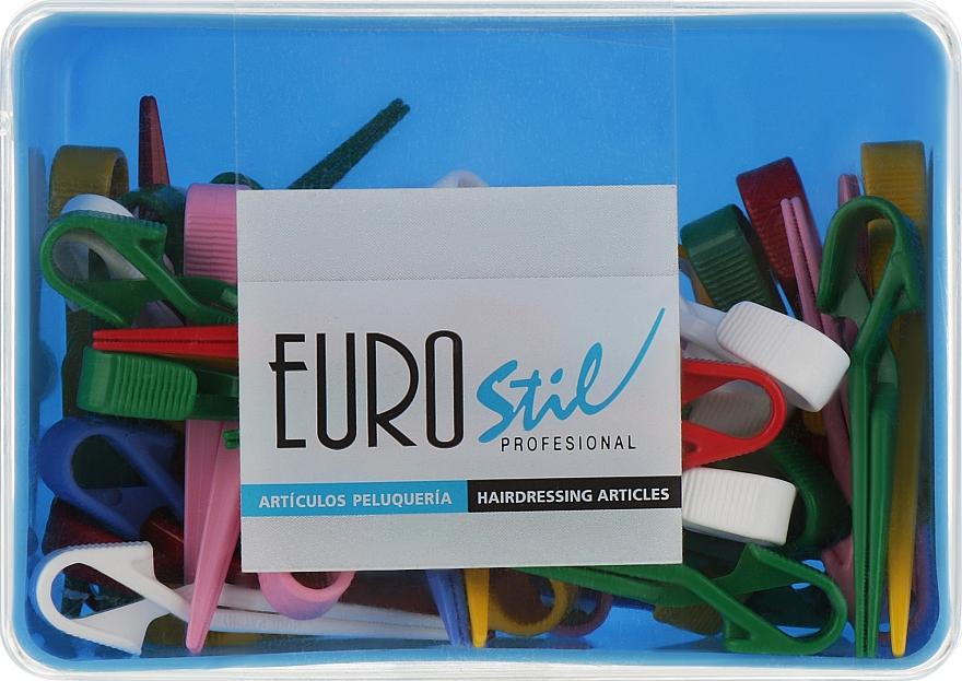 Зажимы пластиковые маленькие, разноцветные, 00046 - Eurostil