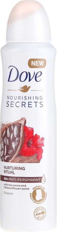 Антиперспирант-аэрозоль - Dove Nourishing Secrets Cacao & Hibiscus Dry Spray Antiperspirant