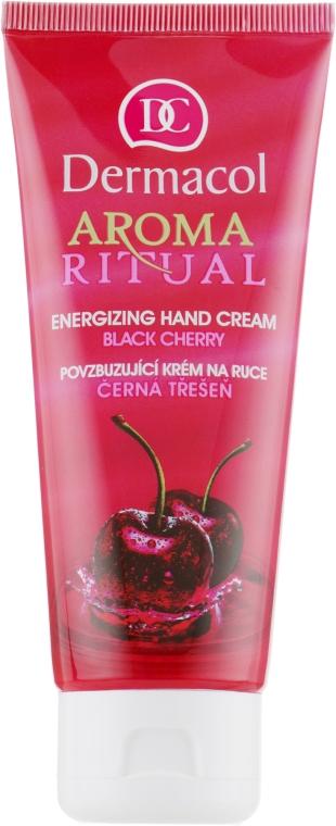 "Крем для рук увлажняющий ""Черная черешня"" - Dermacol Aroma Ritual Hand Cream Black Cherry"