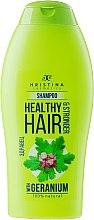 Парфумерія, косметика Шампунь для волосся  - Hristina Cosmetics Healthy Hair & Stronger With Geranium Shampoo