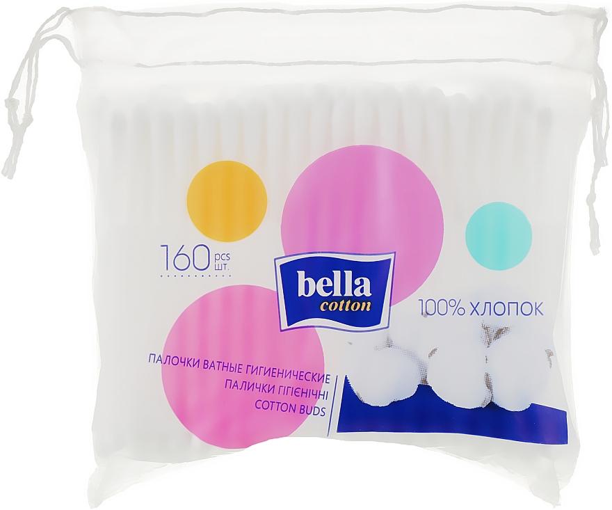 Ватные палочки в полиэтиленовой упаковке, 160шт - Bella