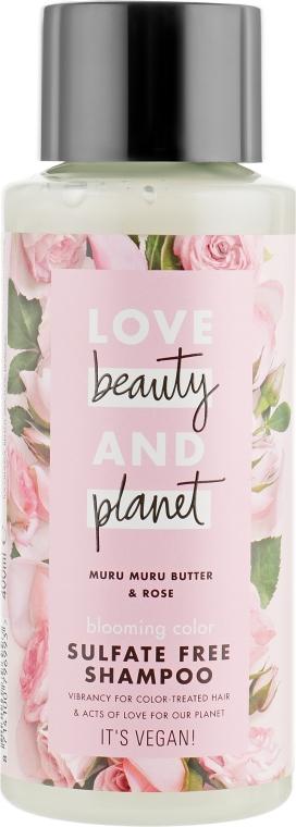 """Шампунь для волос бессульфатный """"Цветущий цвет"""" - Love Beauty&Planet Muru Muru Butter & Rose"""