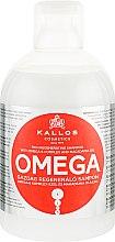 Парфумерія, косметика Відновлюючий шампунь з комплексом Омега-6 і маслом макадамії - Kallos Cosmetics Omega Hair Shampoo