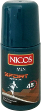 Духи, Парфюмерия, косметика Шариковый дезодорант - Nicos Roll On For Men Sport