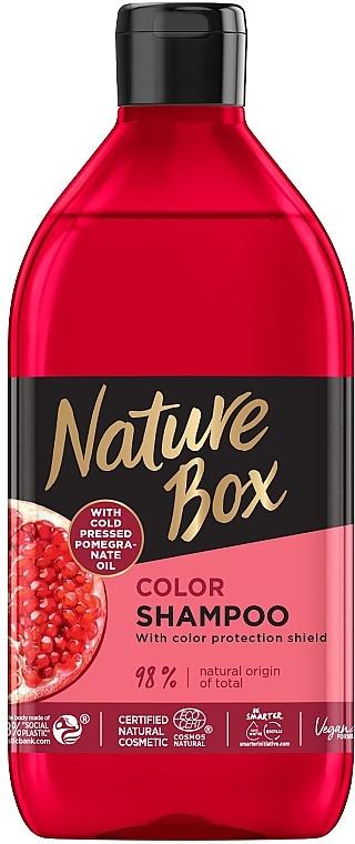 Шампунь для окрашенных волос с гранатовым маслом холодного отжима - Nature Box Color Vegan Shampoo with cold pressed Pomergranate oil