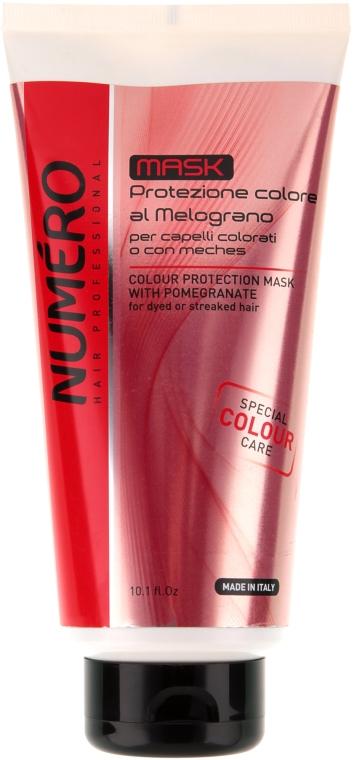 Маска для защиты цвета волос с экстрактом граната - Brelil Professional Numero Colour Protection Mask