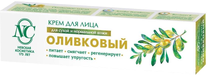 """Крем для лица """"Оливковый"""" для сухой и нормальной кожи - Невская Косметика"""