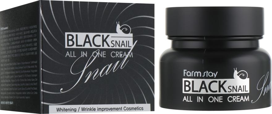 Многофункциональный крем с муцином черной улитки - FarmStay All-In-One Black Snail Cream