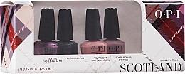 Духи, Парфюмерия, косметика Набор - OPI Scotland Nail Lacquer Set (lacquer/4x3.75ml)