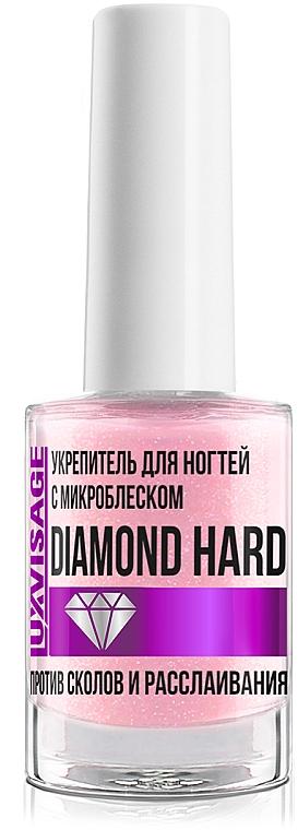 Укрепитель для ногтей с микроблеском против сколов и расслаивания - Luxvisage Diamon Hard