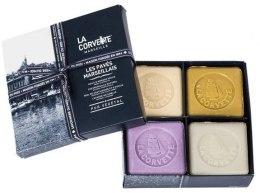 """Духи, Парфюмерия, косметика Набор """"Марсельское мыло"""" - La Corvette Les Paries Marseillais (soap/125g + soap/125g + soap/125g + soap/125g)"""
