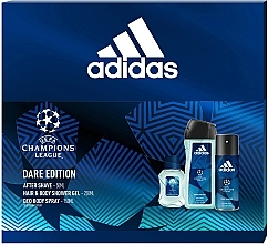 Парфумерія, косметика Adidas UEFA Dare Edition - Набір (sh/gel/250ml + deo/spray/150ml + a/sh/lot/50ml)